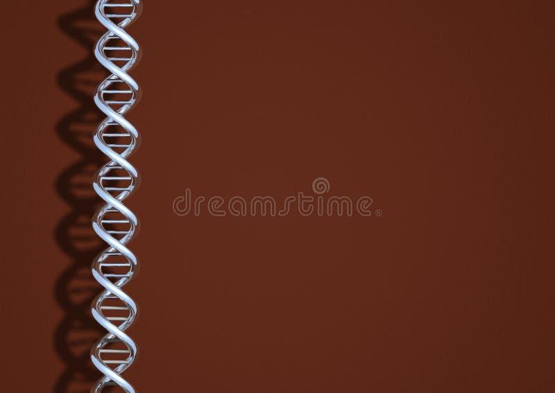 Het chroom van DNA vector illustratie