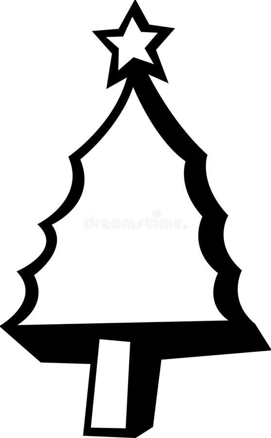 Het cijfer van de kerstboom royalty-vrije illustratie