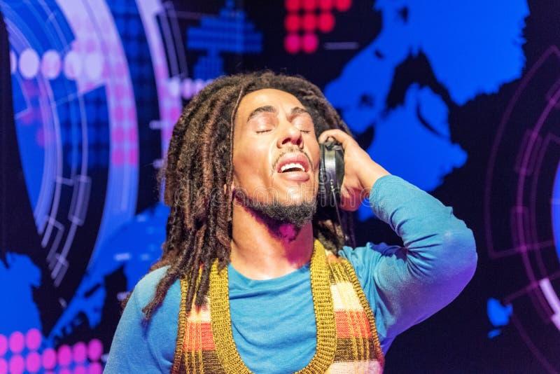 Het cijfer van de het Loodjes` Marley was van Robert Nesta ` bij Mevrouw Tussauds-museum in Istanboel royalty-vrije stock foto's