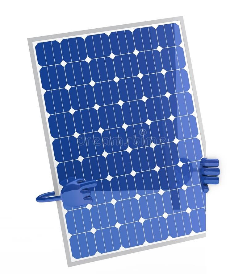 Het cijfer van het zonnepaneel royalty-vrije illustratie