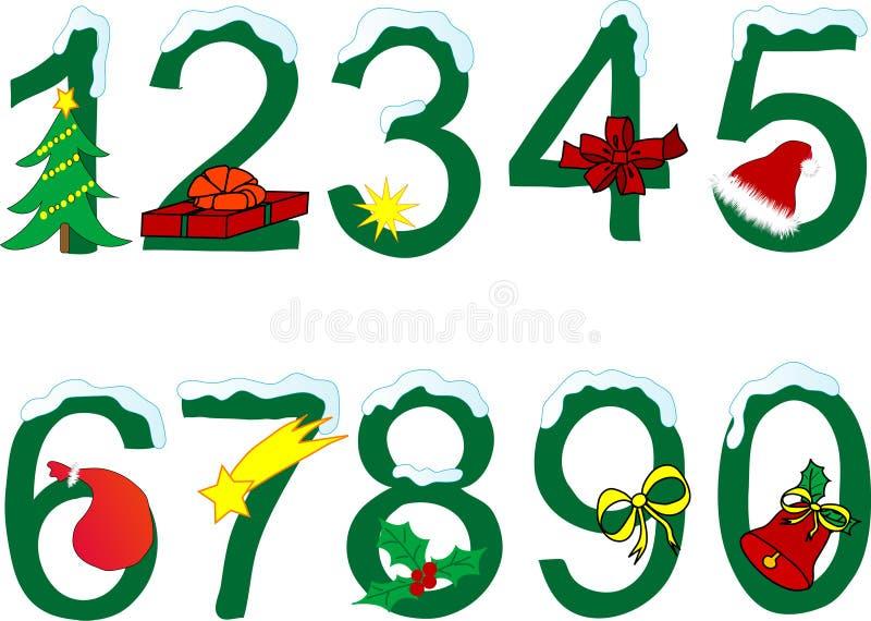 Het cijfer van Kerstmis stock illustratie