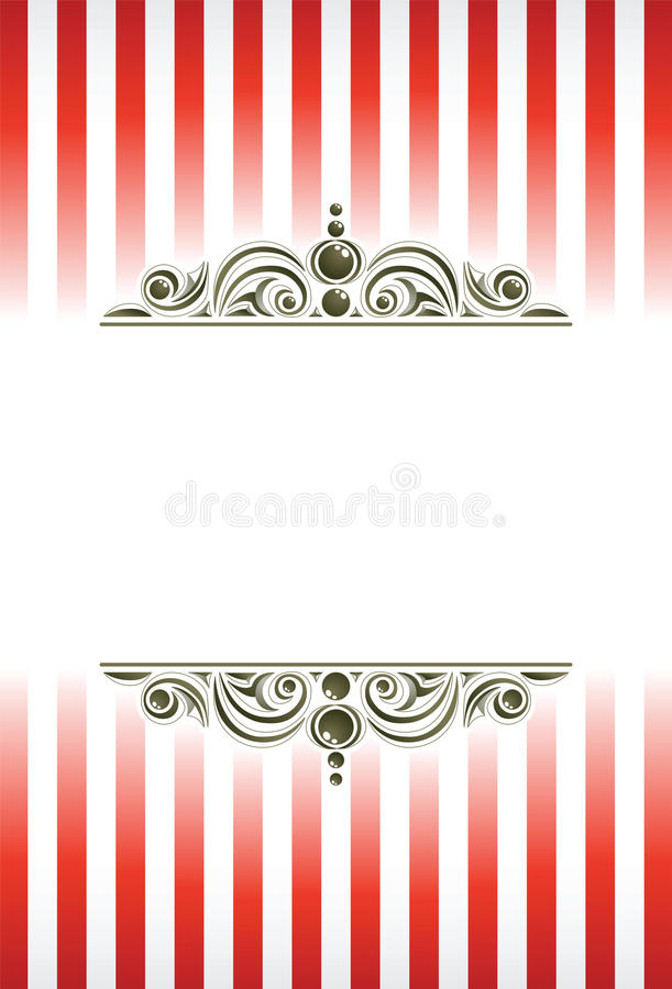 Het circus siert achtergrond. stock illustratie