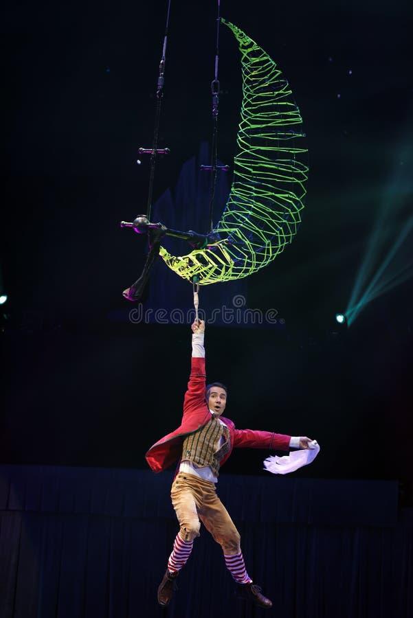 Het circus toont Sneeuwkoningin royalty-vrije stock afbeeldingen