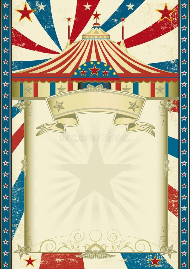 Het circus van Grunge royalty-vrije illustratie