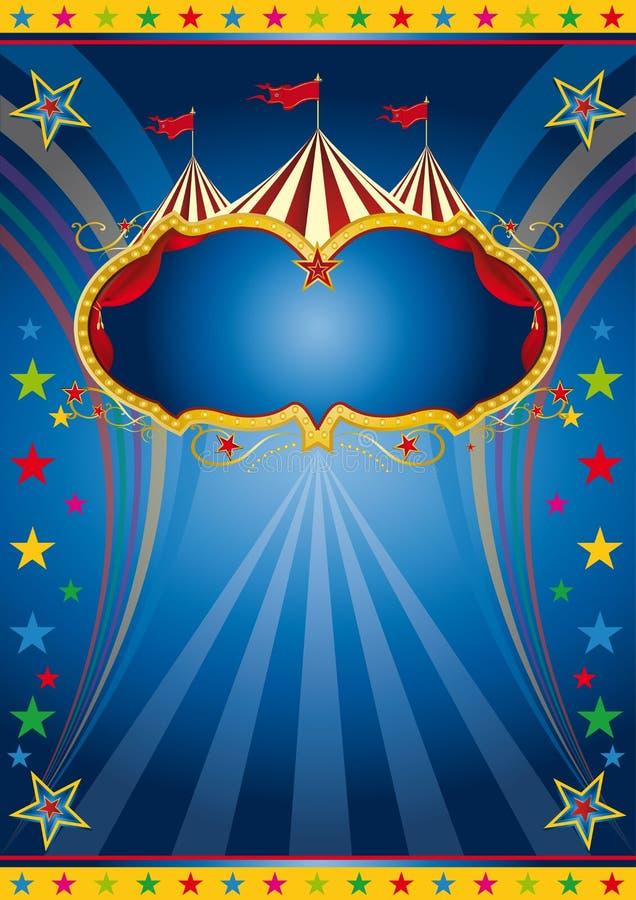 Het circuswijnoogst van de regenboog vector illustratie