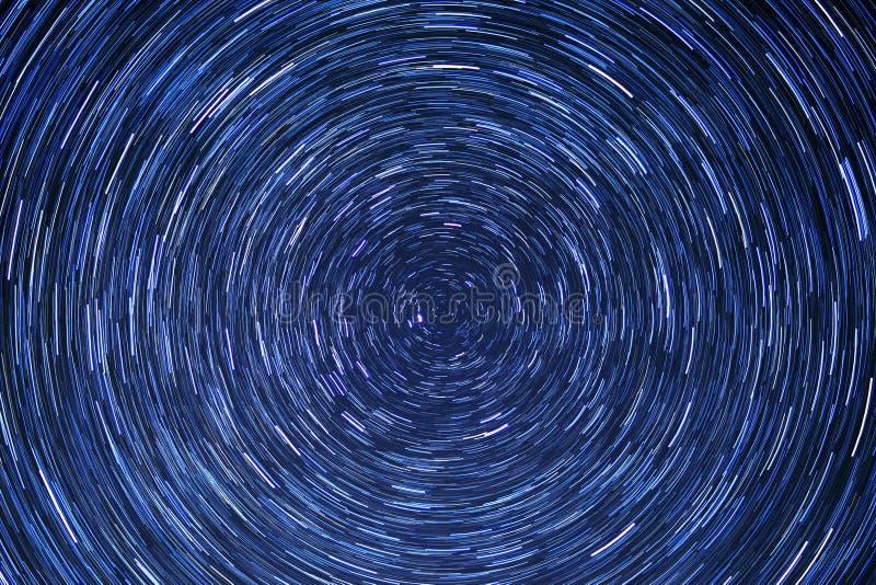 Het cirkel-ruimte-nacht-blauw van de stersleep stock afbeeldingen