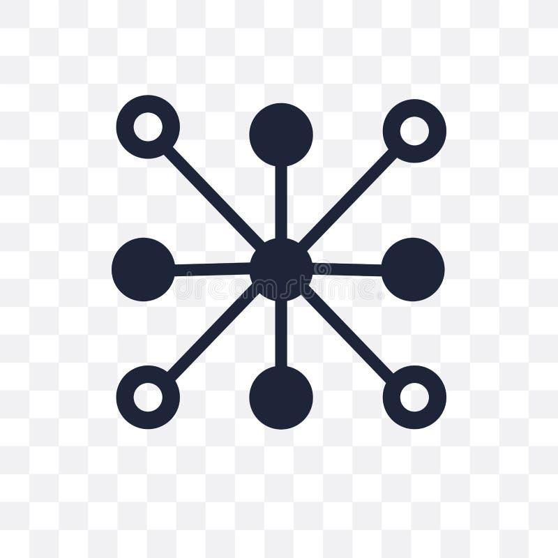 Het cirkel transparante pictogram van gegevensanalytics Circula van gegevensanalytics vector illustratie