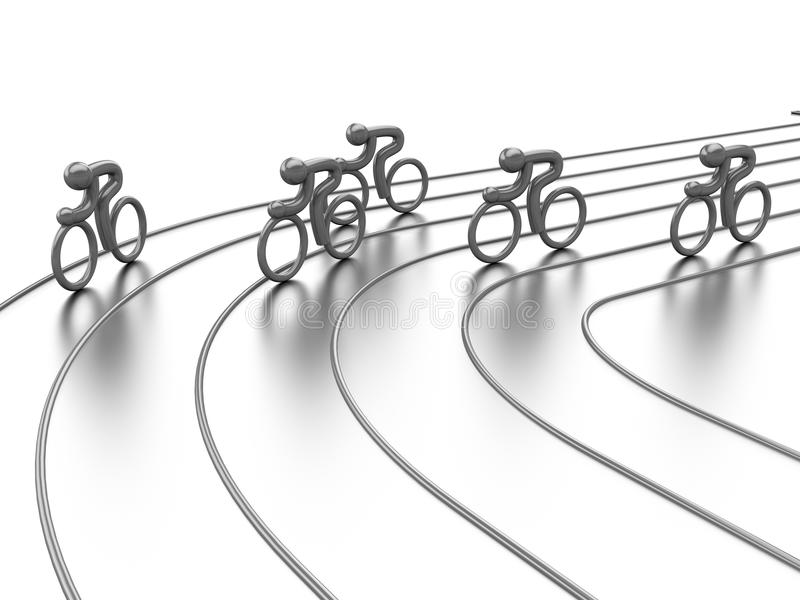 Het cirkelen de concurrentie royalty-vrije illustratie