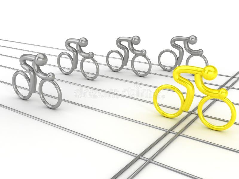 Het cirkelen de concurrentie vector illustratie
