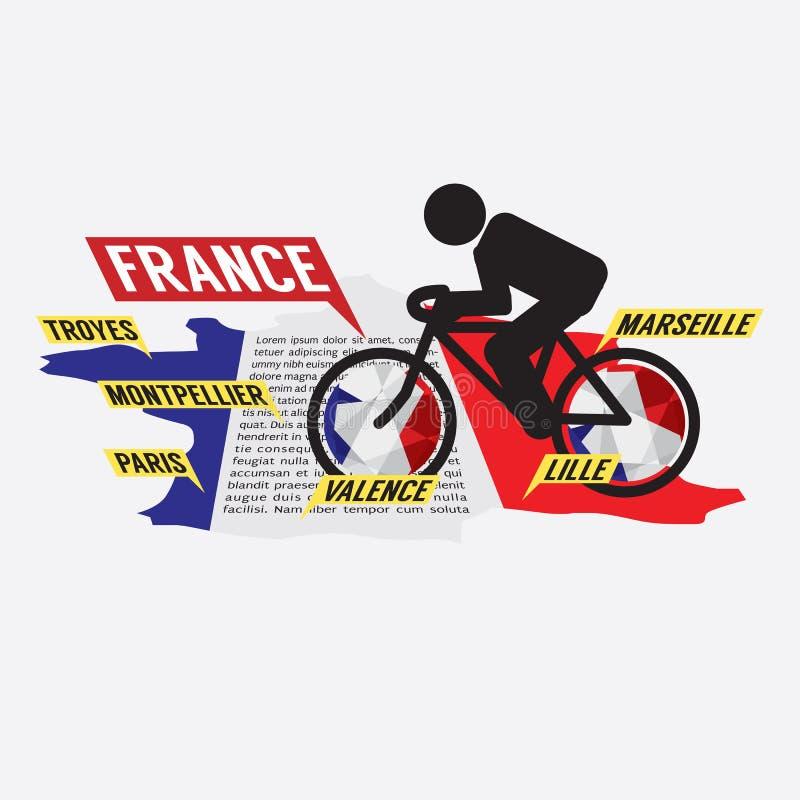 Het cirkelen in Frankrijk stock illustratie