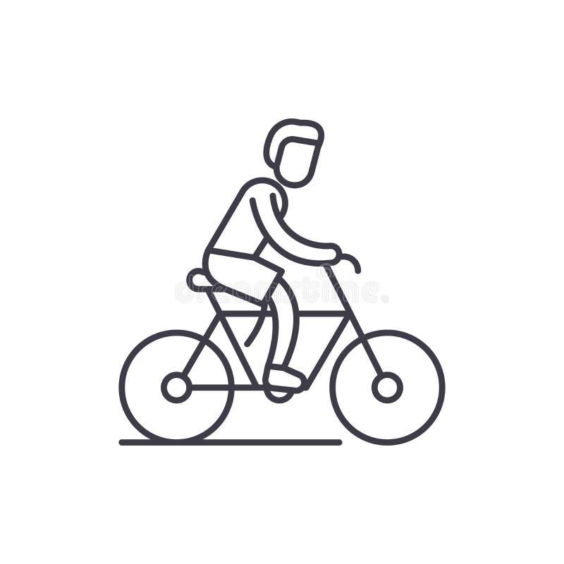 Het cirkelen het pictogramconcept van de reislijn Cirkelende reis vector lineaire illustratie, symbool, teken vector illustratie