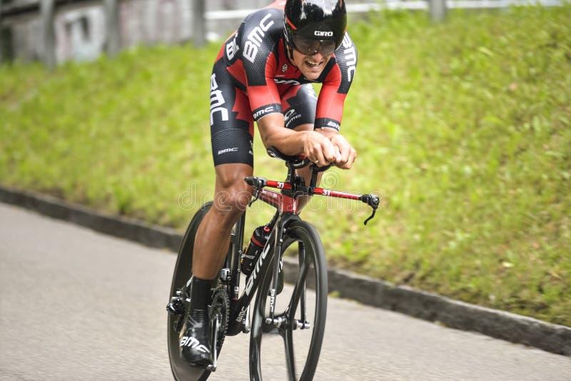 Het Cirkelende team van BMC in Tour DE Suisse 2015 stock foto's