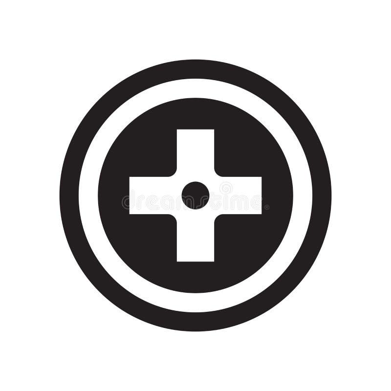 het cirkelpictogram van het kruisingsteken  stock illustratie