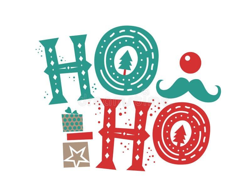 Het citaat van Ho ho ho Kerstmis vector illustratie