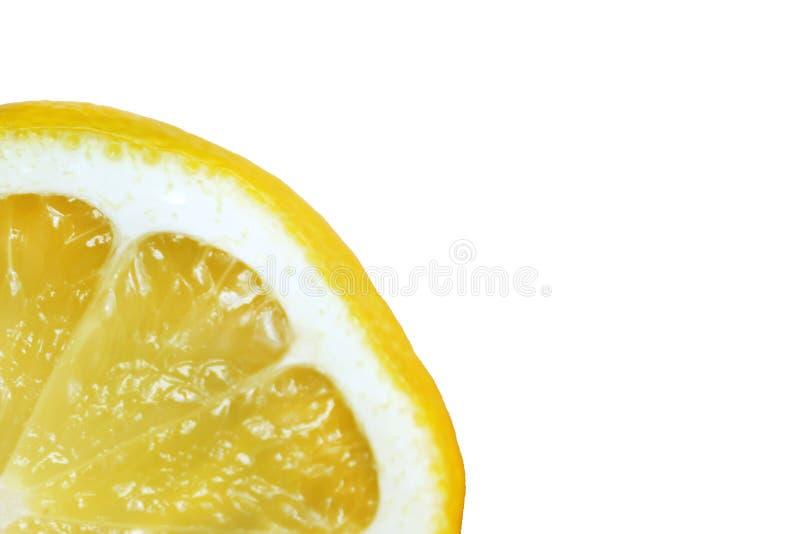 het citroenkwartet isoleert op witte achtergrond stock fotografie