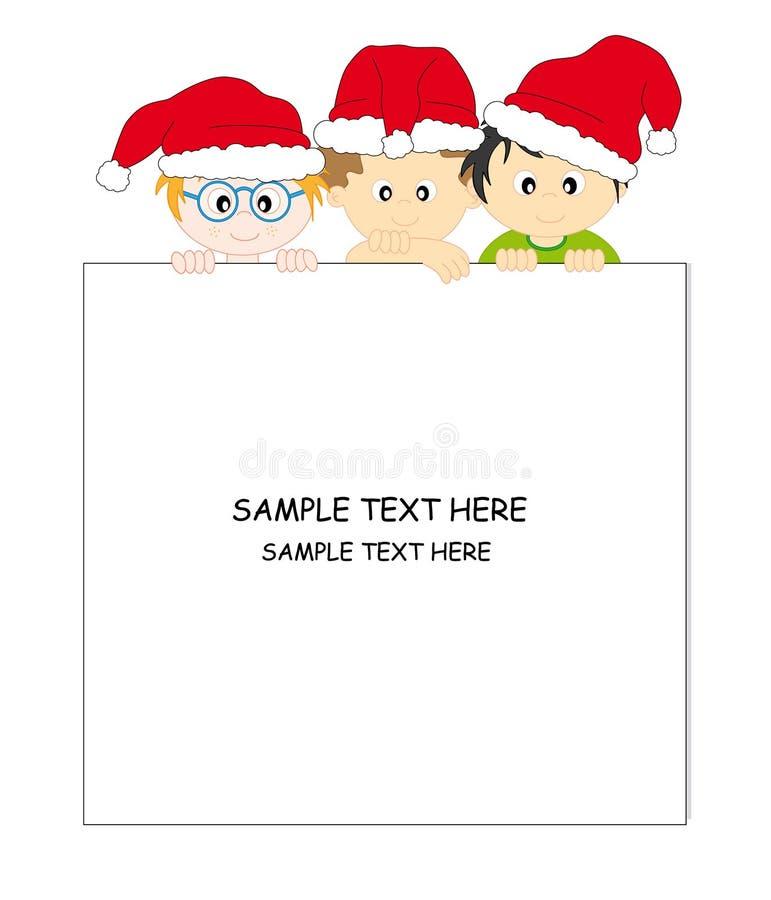 Het Claus-Kader van de kerstman royalty-vrije illustratie
