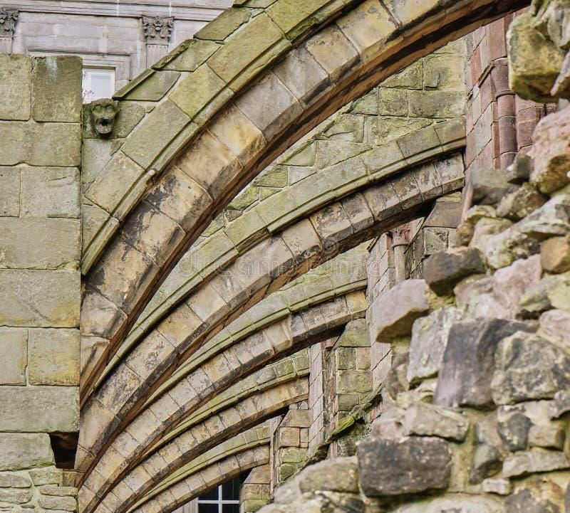 Het close-up van Architecturaal Detail van luchtboog stock afbeelding