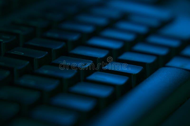 Het close-up van het computertoetsenbord met lege ruimte stock fotografie