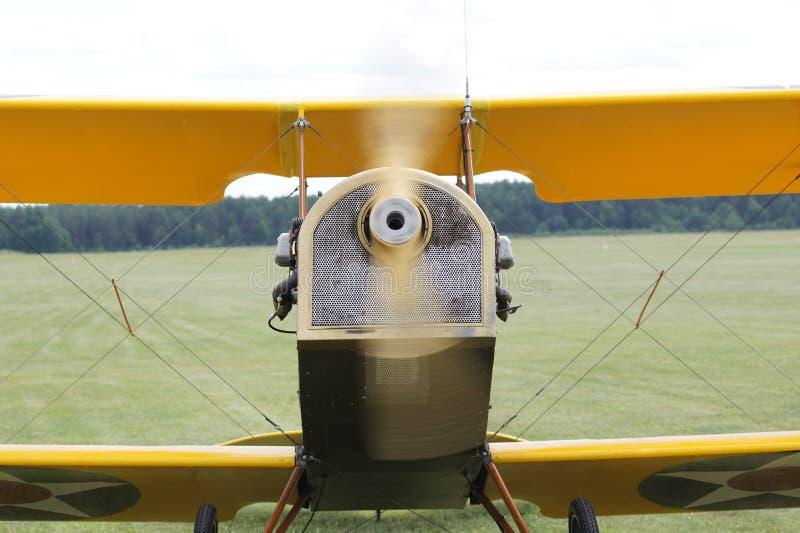 Het close-up van Curtiss jn-4H vliegtuigen stock afbeeldingen