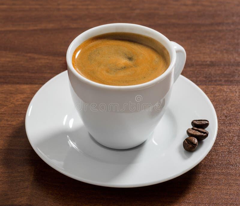 Het close-up van de koffieespresso stock fotografie