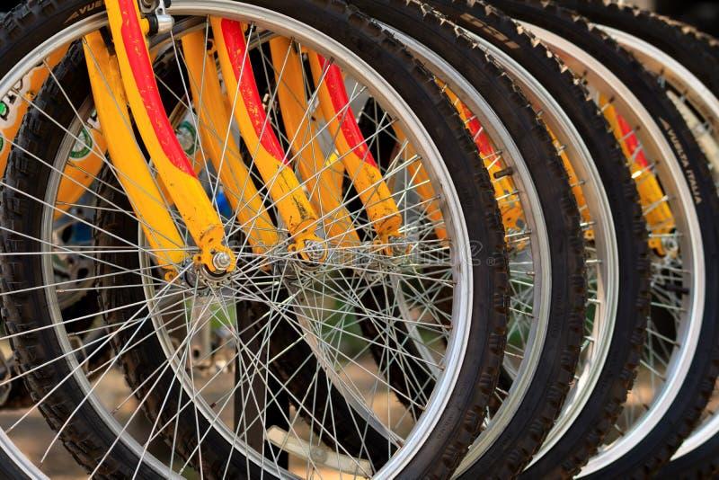 Het close-up van het fietsendetail royalty-vrije stock afbeelding