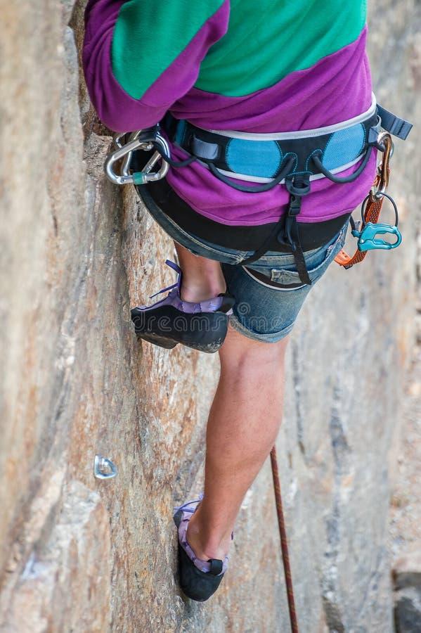 Het close-up van klimmervoeten royalty-vrije stock foto's