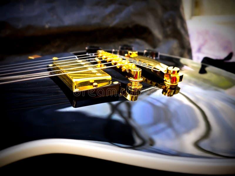 Het close-up van Lespaul guitar stock fotografie