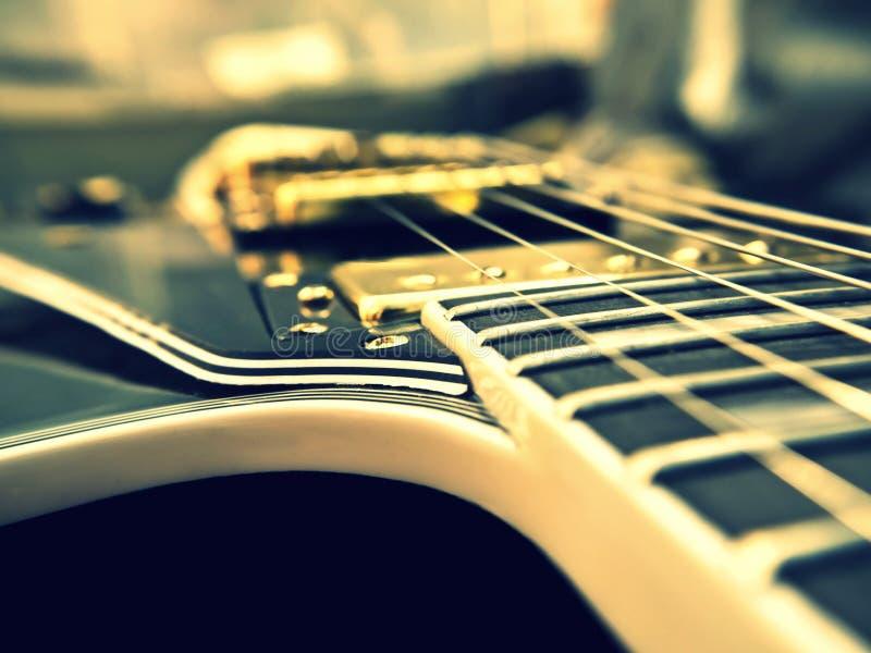 Het close-up van Lespaul guitar stock afbeeldingen