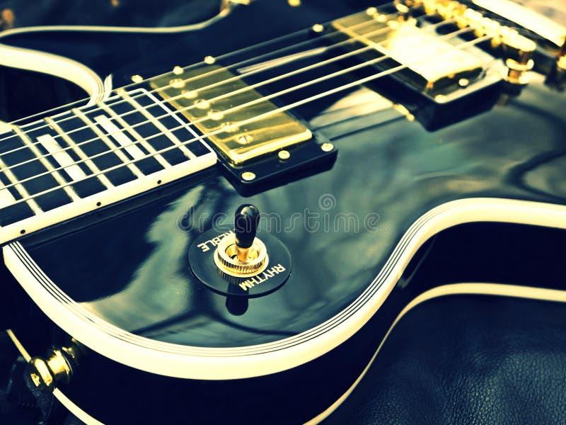 Het close-up van Lespaul guitar stock afbeelding
