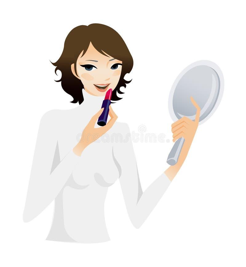 Close-up van vrouw royalty-vrije illustratie