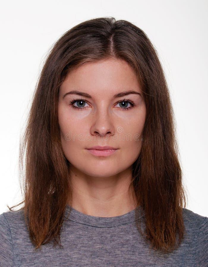 Het close-upfoto van het vrouwenportret stock foto's