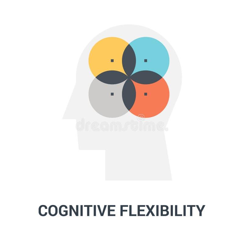 Het cognitieve concept van het flexibiliteitspictogram vector illustratie