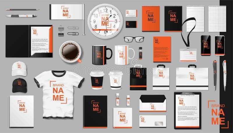 Het collectieve het Brandmerken ontwerp van het identiteitsmalplaatje Modern Realistisch kleurrijk Bedrijfskantoorbehoeftenmodel  stock foto