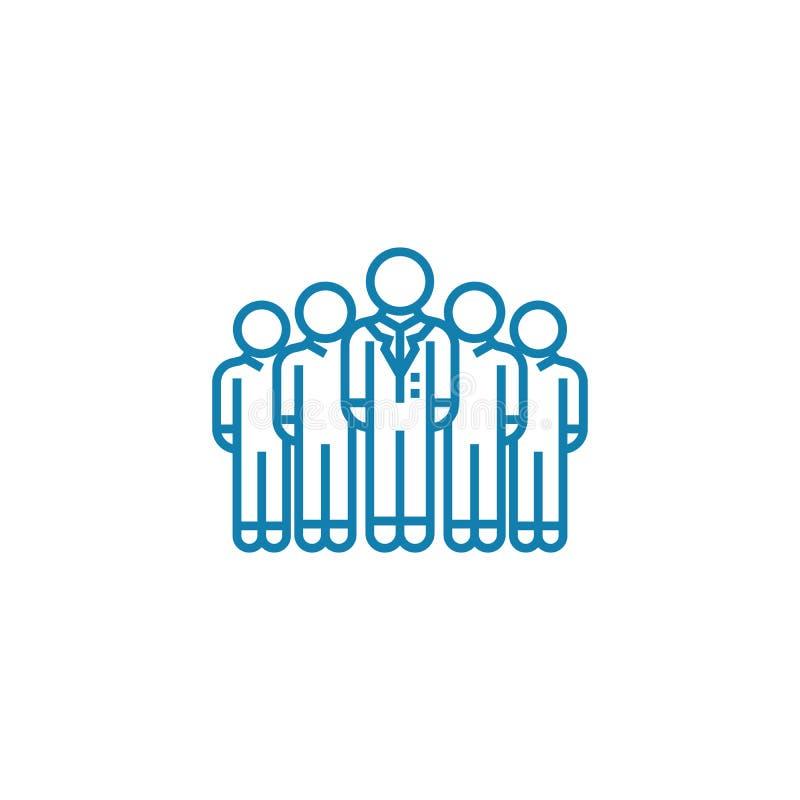 Het collectieve concept van het afdelings lineaire pictogram Het collectieve vectorteken van de afdelingslijn, symbool, illustrat vector illustratie