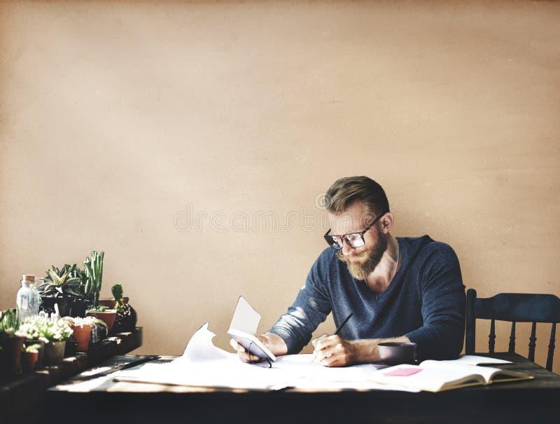 Het Collectieve Concept van zakenmanstudio leisure contemplation stock afbeelding