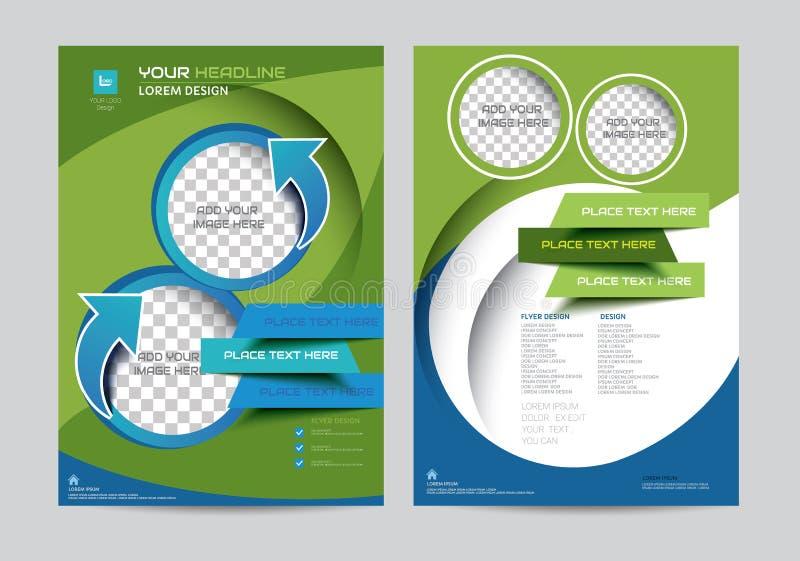 Het collectieve malplaatje van de het ontwerplay-out van de brochurevlieger in A4 grootte vector illustratie