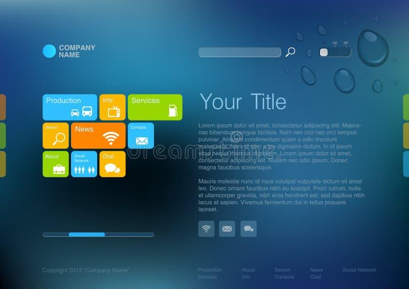 Het collectieve malplaatje van de Website. vector illustratie