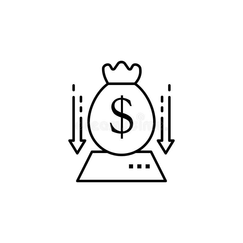 Het collectieve pictogram van de geldzak Element van het pictogram van de bedrijfsmotivatielijn stock illustratie