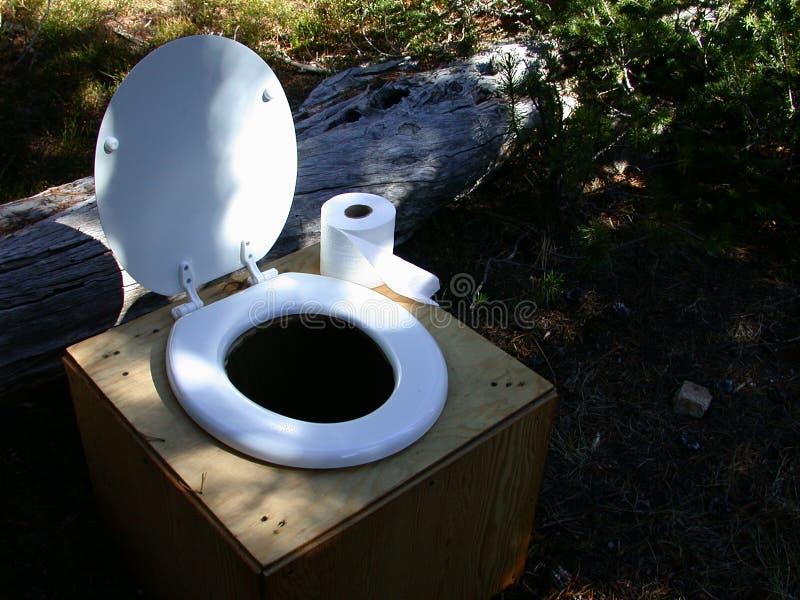 Het Comfort van het Schepsel van het toilet stock foto