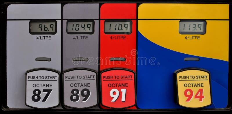 Het Comité van de benzinepomp royalty-vrije stock foto
