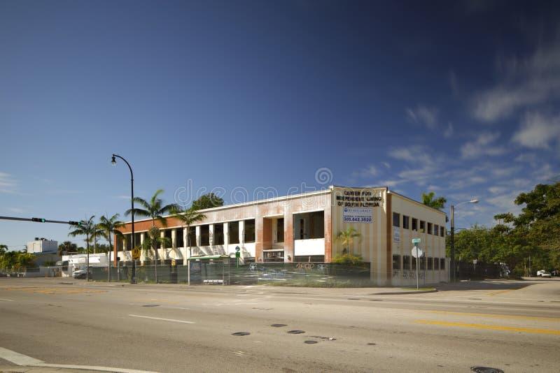 Het commerciële district van Miami MiMo van de de bouwvernieling stock foto's