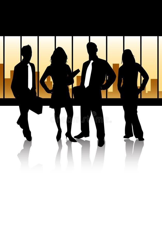 Het commerciële team stock illustratie