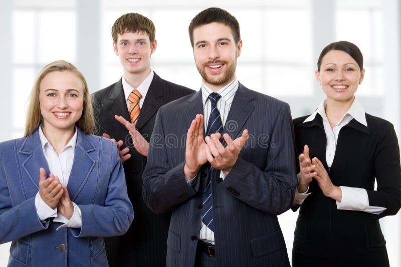Het commerciële team toejuichen royalty-vrije stock foto
