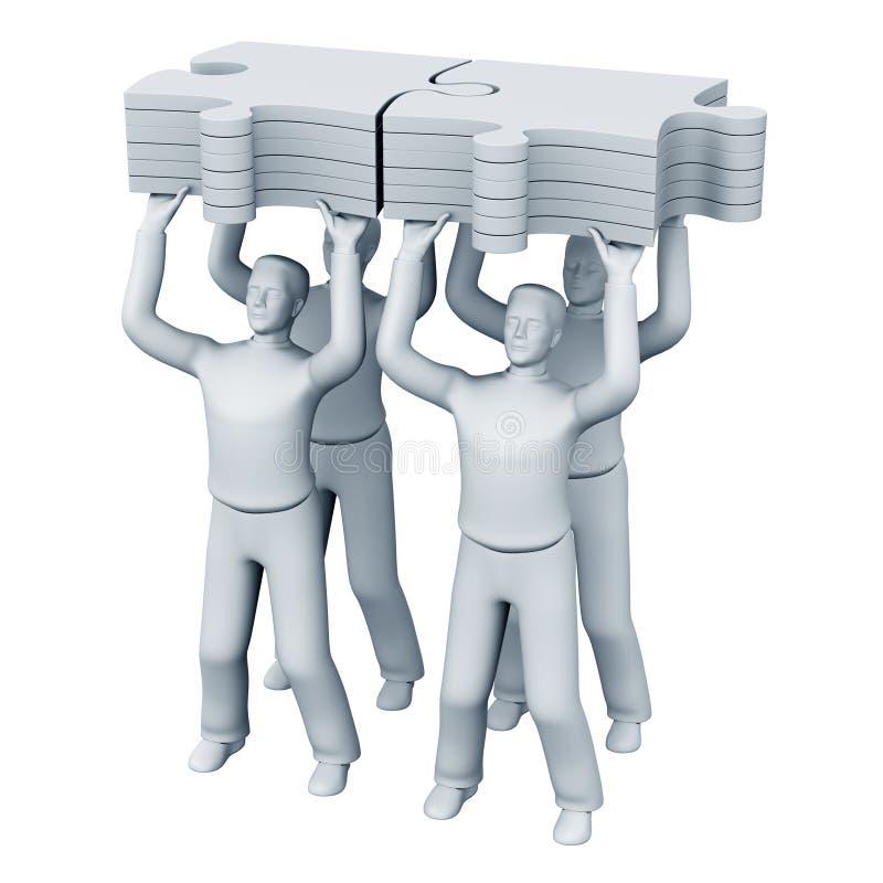 Het commerciële teamwerk royalty-vrije illustratie
