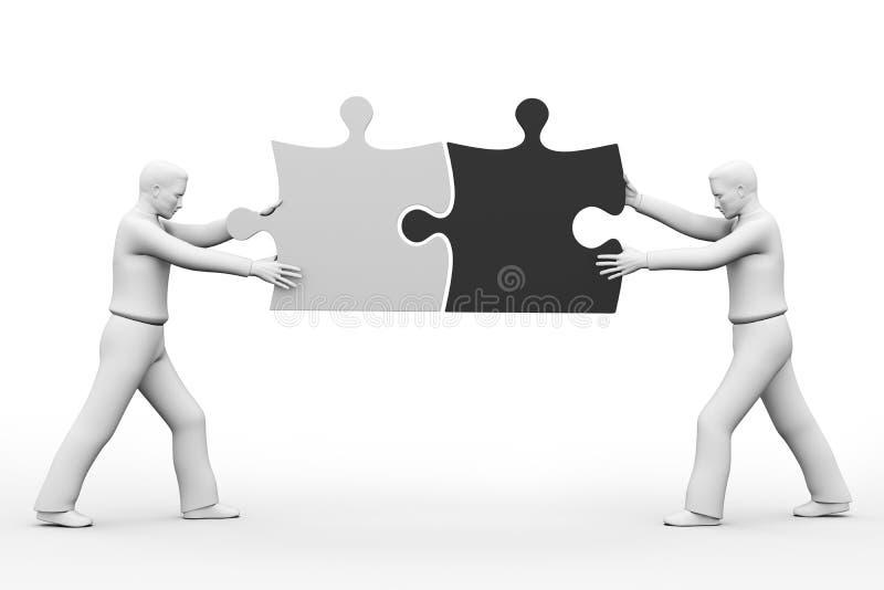 Het commerciële teamwerk. royalty-vrije illustratie