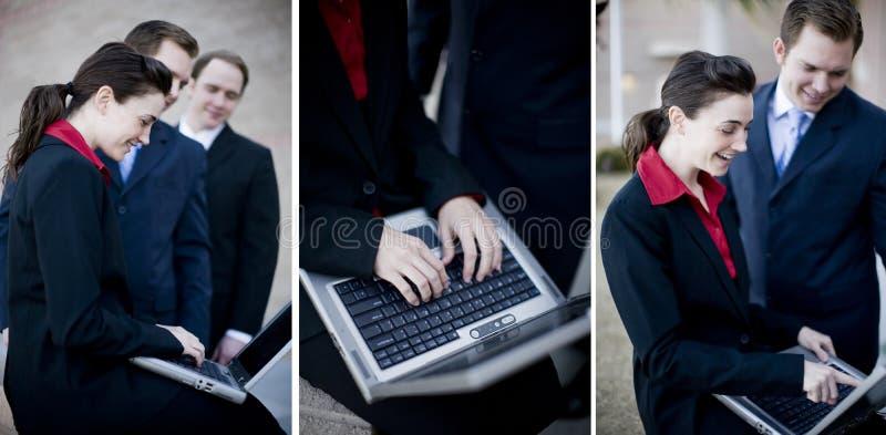 Het commerciële teamwerk royalty-vrije stock afbeeldingen