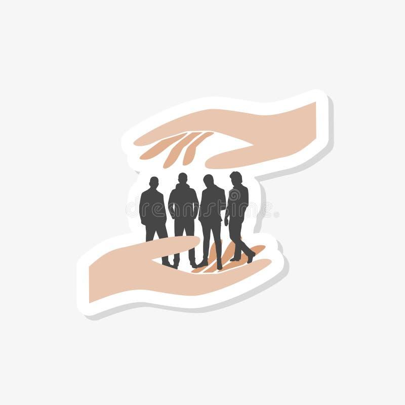 Het communautaire van het het embleemontwerp van zorgmensen eenvoudige malplaatje stock illustratie