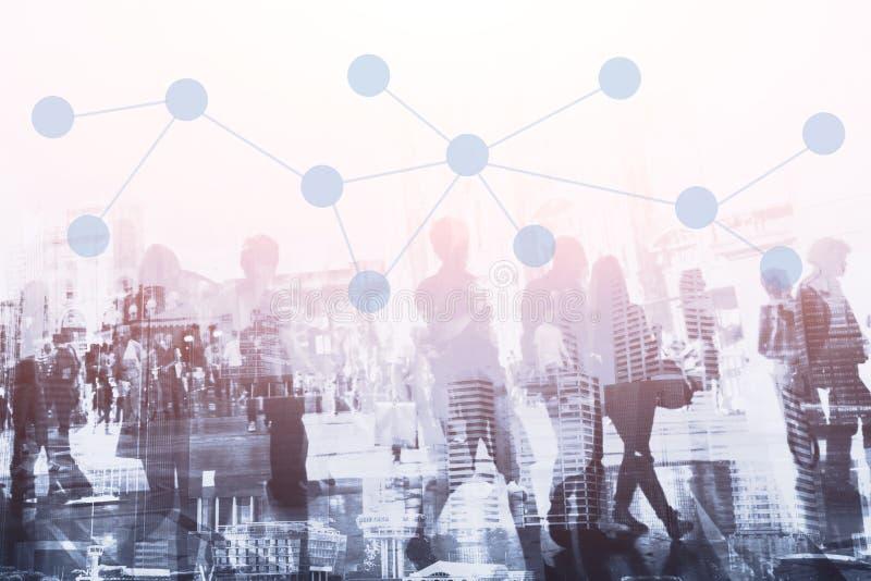 Het communicatie concept van de netwerkverbinding en royalty-vrije stock foto's