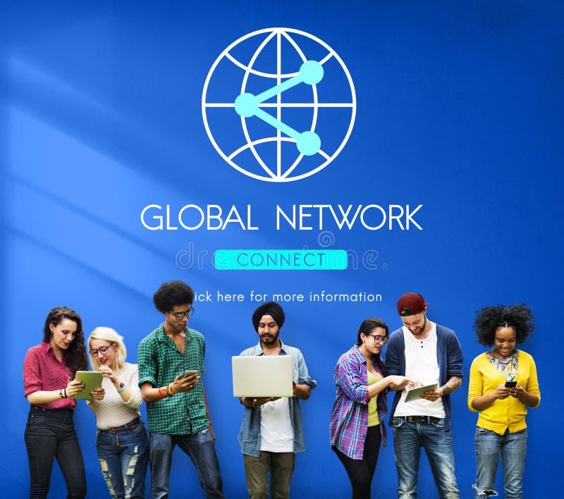Het Communicatienetwerk die van verbindingsinternet Concept delen royalty-vrije stock foto's