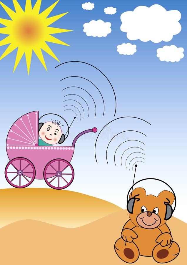 Het communiceren met het speelgoed royalty-vrije illustratie